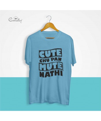 Cottvalley-Slogan-T-Shirt-Cute-Chu-Pan-Mute-Nahi