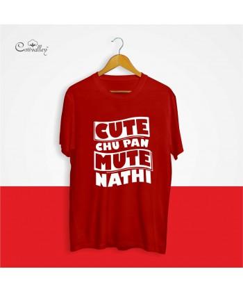 Cottvalley-Slogan-T-Shirt-Cute-Chu-Pan-Mute-Nahi-Black