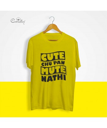 Cottvalley-Slogan-T-Shirt-Cute-Chu-Pan-Mute-Nahi