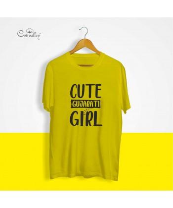 Cottvalley-Slogan-Tshirt-Cute-Gujarati-Girl