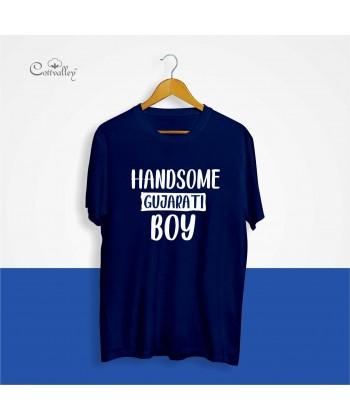 Cottvalley-Slogan-Tshirt-Handsome-Gujarati-Boy-
