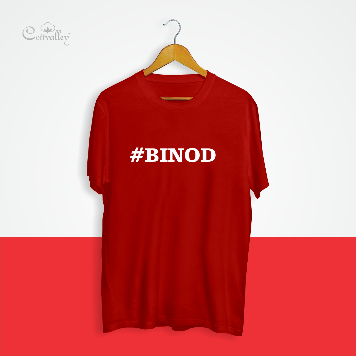 Cottvalley-Trending-Tshirt-Binod-Mem-Red