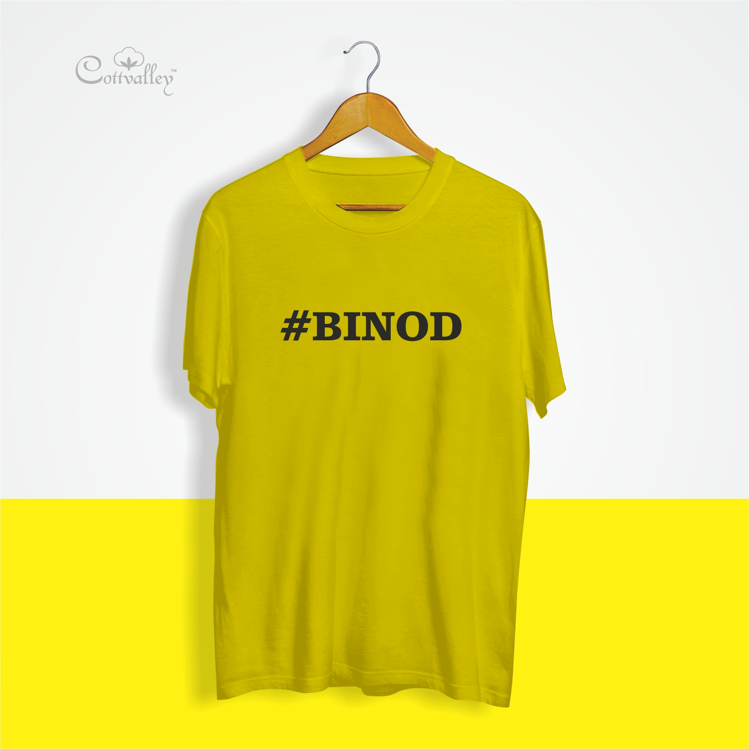 Cottvalley-Trending-Tshirt-Binod-Mem-Yellow